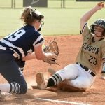 Calhoun swats 8 homers in DH sweep of Woodland